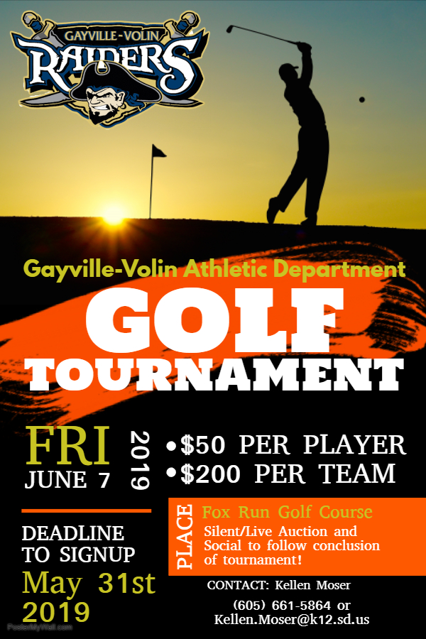 GV Golf Tournament Informational Flyer